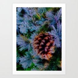 Vibrant Evergreen Christmas Art Print