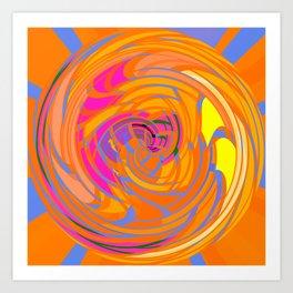 Wind Tunnel in Orange Art Print