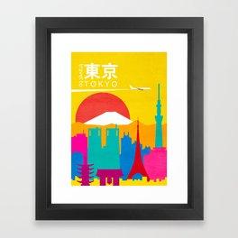 Travel to Tokyo Framed Art Print