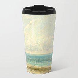 Gustave Courbet, Calm Sea, 1866 Travel Mug