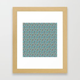 Green and Blue Cowgirl Boots Framed Art Print
