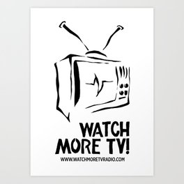 Watch More TV Radio Art Print