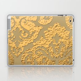 Gold Metallic Damask Print Laptop & iPad Skin