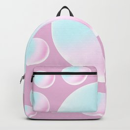 Rainbow Balls Sweet Candy Pastel Color // Pink Background  Backpack