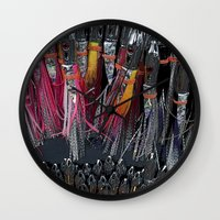 fishing Wall Clocks featuring Fishing by Mary Kilbreath
