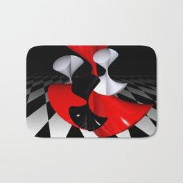 polynomails on harlekin - patterned plane Bath Mat