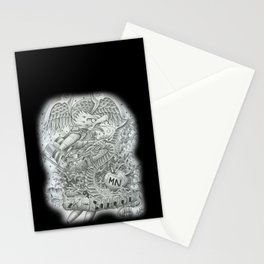Mineman A-School Design Stationery Cards