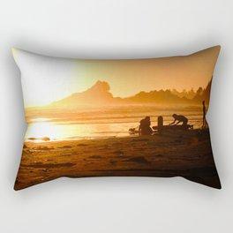 Sunset in Tofino, Cox Bay Rectangular Pillow