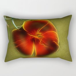 Reflection in Red Rectangular Pillow