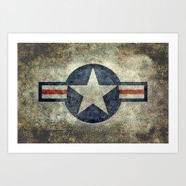 Stylized US Air force Roundel Art Print