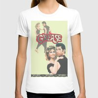 grease T-shirts featuring Grease  by Dora Birgis