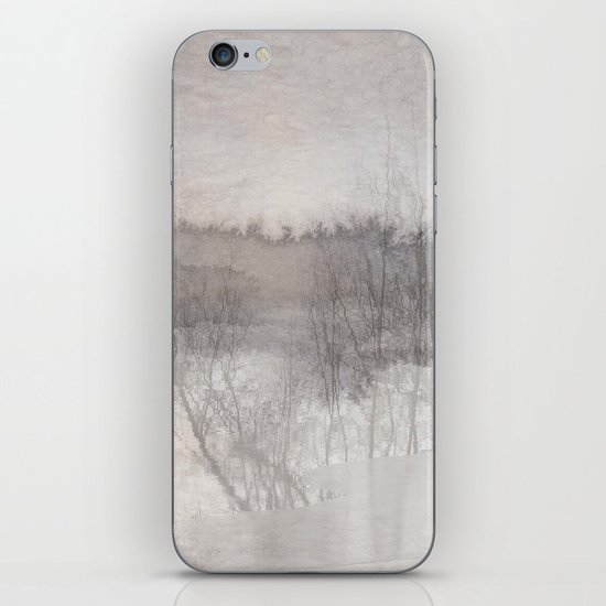 Autumn fog iPhone Skin