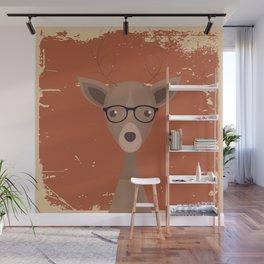 Hipster Deer Wall Mural