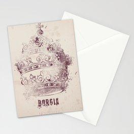 Borgia, tv series, alternative movie Poster, John Doman, Mark Ryder, Isolda Dychauk, Marta Gaslini Stationery Cards
