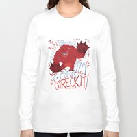 wreck it ralph Long Sleeve T-shirts featuring Wreck-it Ralph (Scraped appearance) by Camille Dion-Bolduc