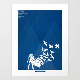 Flocked - KU vs TTU 10/7/17 Art Print