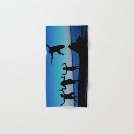 Brownie's beach silhouette Hand & Bath Towel