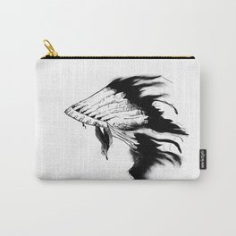 This is a Indian Native American Head Dress Carry-All Pouch