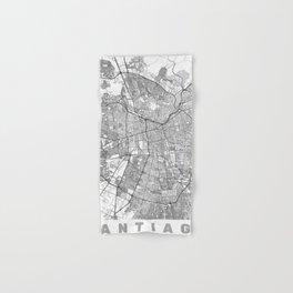Santiago Map Line Hand & Bath Towel
