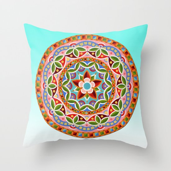 Circus Mandala Throw Pillow