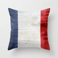 france Throw Pillows featuring France by Arken25