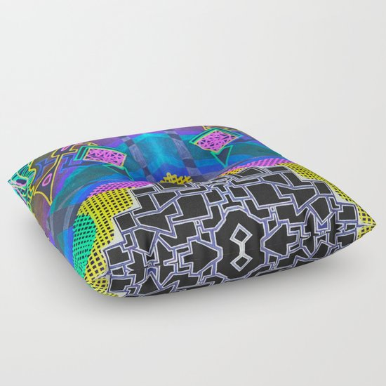 Abstract 2B Floor Pillow