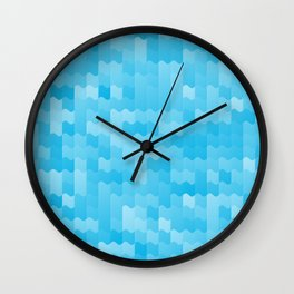 Aqua Blue Waves Wall Clock