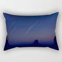 Monument Valley Star Trails Rectangular Pillow