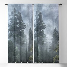 Smoky Redwood Forest Foggy Woods - Nature Photography Blackout Curtain