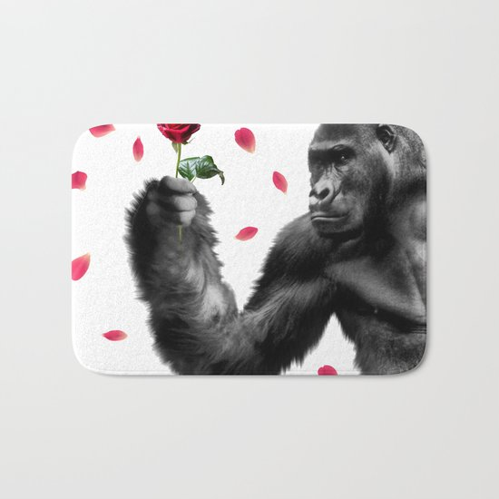 Gorilla In Love Bath Mat