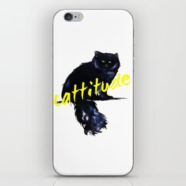 Cattitude _ swag iPhone Skin