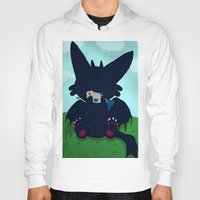 toothless Hoodies featuring Toothless by DaemonDeDevil