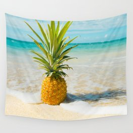 Pineapple Beach Wall Tapestry