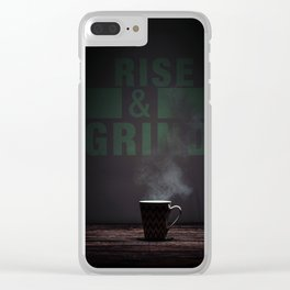 Rise and Grind Clear iPhone Case