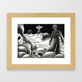 Pile of Bones Framed Art Print