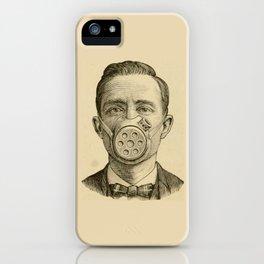 Masked man. iPhone Case