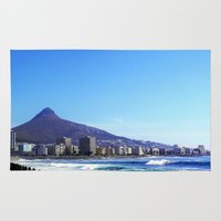 south africa Area & Throw Rugs featuring South Africa Impression 6 by Art-Motiva