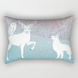 Winter In The White Woods Rectangular Pillow