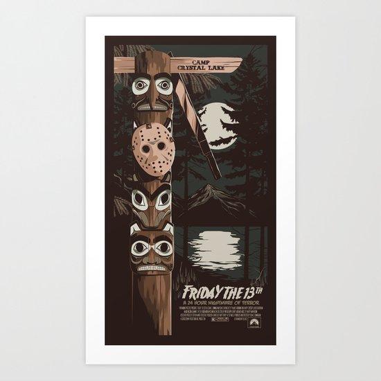 FRIDAY THE 13TH (02) Art Print
