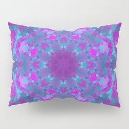 Pink, Purple, and Blue Pixels Pillow Sham