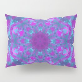 Pink, Purple, and Blue Pixels Pillow Sham