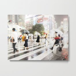 The Shibuya Crossing Metal Print
