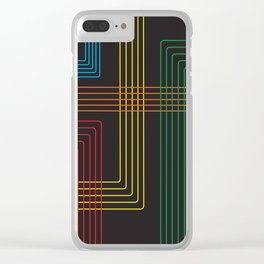 Five Color stripes Clear iPhone Case