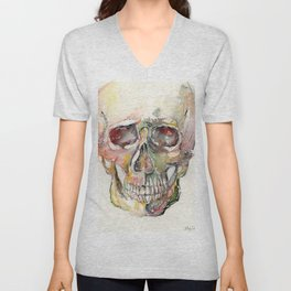 Human Skull Painting Unisex V-Neck