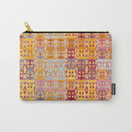 Retro African Textile Warm Tones Carry-All Pouch