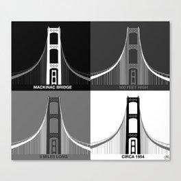 Iconic Mackinac Bridge Art Canvas Print