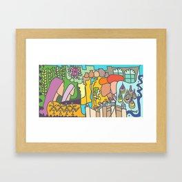 Romance in the Garden Framed Art Print