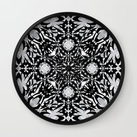 gothic Wall Clocks featuring Gothic by Ornaart