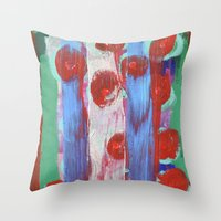 leah flores Throw Pillows featuring FLORES by S.Queimado-Lima