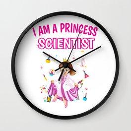 Princess scientist researcher Gift Wall Clock